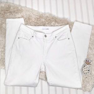 Loft Curvy Skinny Jeans Size 8 White